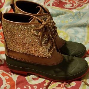 Glitter Duck Boots